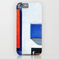Red, blue, white shapes iPhone 6 Slim Case