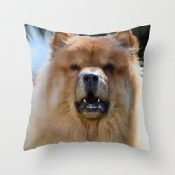 Throw Pillow featuring Poof Ball by Kealaphotography