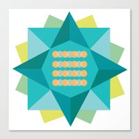Abstract Lotus Flower - Yoga Print Canvas Print