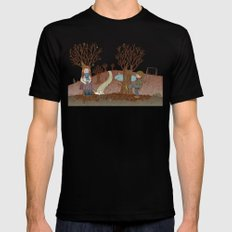 FALL Black SMALL Mens Fitted Tee