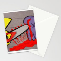 killer pacman Stationery Cards