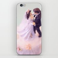 Bride and Groom - bridal shower gift or wedding gift iPhone & iPod Skin