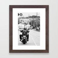 GoGo Harley Framed Art Print