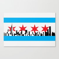 New Chicago Flag Canvas Print