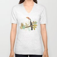 Forest Toucan  Unisex V-Neck