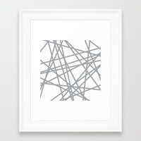 To The Edge Grey Framed Art Print