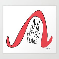 Red Hair Perfect Flare Art Print