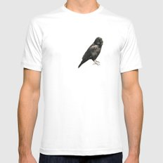animal#01 SMALL White Mens Fitted Tee