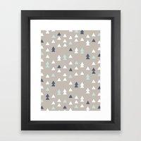 Little Triangles Framed Art Print