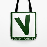 Rated V For Vegan Tote Bag