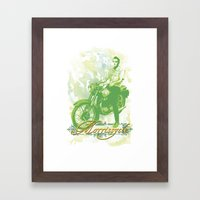 Morrissycle Framed Art Print
