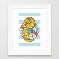 Seaquestrian Framed Art Print