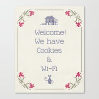 Cookies & Wi-Fi Canvas Print
