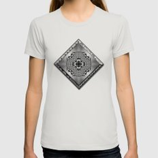 Garden of Illusion 2 Womens Fitted Tee Silver SMALL