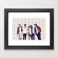 Floral 1D Framed Art Print