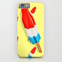 Red White and Blue Rocket Pop Pattern iPhone 6 Slim Case