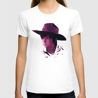 Carl Grimes - The Walking Dead Womens Fitted Tee White SMALL