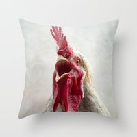 Cockadoodle Doooo! Throw Pillow