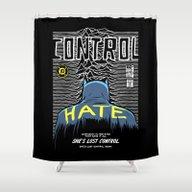 Post-Punk Bat: Control Shower Curtain
