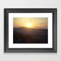 Sunset In Athens - Greec… Framed Art Print