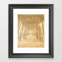 Under The Boardwalk Framed Art Print