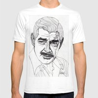 Clark Gable Mens Fitted Tee White SMALL