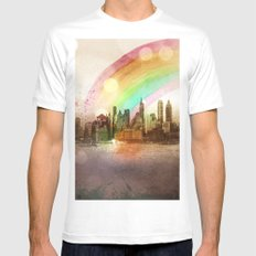 NYC Sky SMALL Mens Fitted Tee White