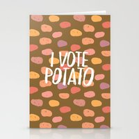 I Vote Potato Stationery Cards
