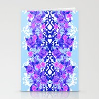 Baroque Blue Stationery Cards