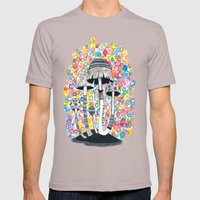 Mushrooms Mens Fitted Tee Cinder SMALL