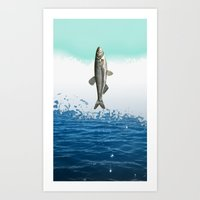 little fish big fish Art Print