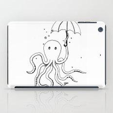 Octopus and Umbrella - outline iPad Case