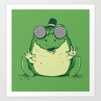 Hypnogenic Toad Art Print