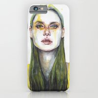 yellow iPhone & iPod Cases featuring yellow lemongrass by agnes-cecile