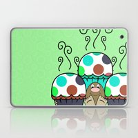 Cute Monster With Cyan A… Laptop & iPad Skin