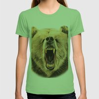 Roaring Bear Womens Fitted Tee Grass SMALL