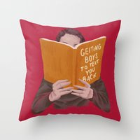 Studying (Gender Swap) Throw Pillow