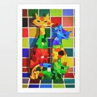 Cat'meleon Art Print