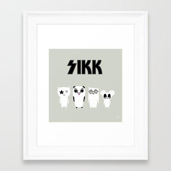 SIKK - ANALOG zine Framed Art Print