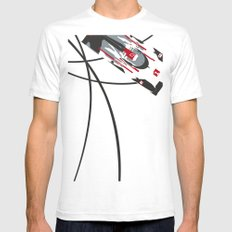 e-tron White SMALL Mens Fitted Tee