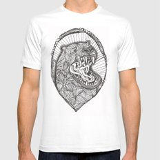 grizzly Mens Fitted Tee SMALL White