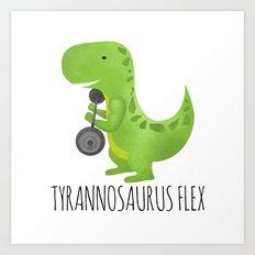 Tyrannosaurus Flex Art Print