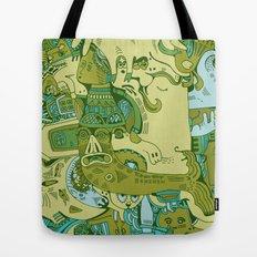 Green Town Tote Bag