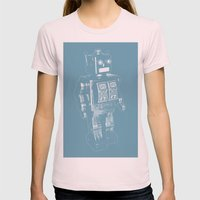 Automaton March Womens Fitted Tee Light Pink SMALL