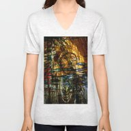 Indian Chief  Abstract  Unisex V-Neck