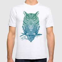 Warrior Owl Mens Fitted Tee Ash Grey SMALL