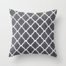 Grey style pks Throw Pillow