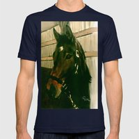 MOLLY'S SPARTAN Mens Fitted Tee Navy SMALL