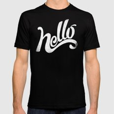 HELLO Mens Fitted Tee Black SMALL
