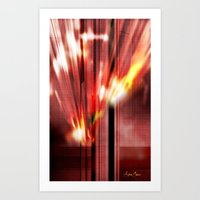 Red, Yellow And White Of… Art Print